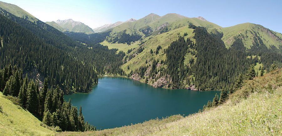 the second Kolsai Lake(2240м.)Mynzholka lake